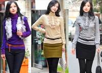 The New Fashion Women T Shirt  Sexy Tops Tee High Collar Lantern Long Sleeve T Shirt