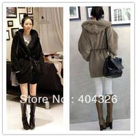 Jacket Hooded Coat Womens Long Winter  Cardigan Plush Loose Warm Cozy Free Shipping