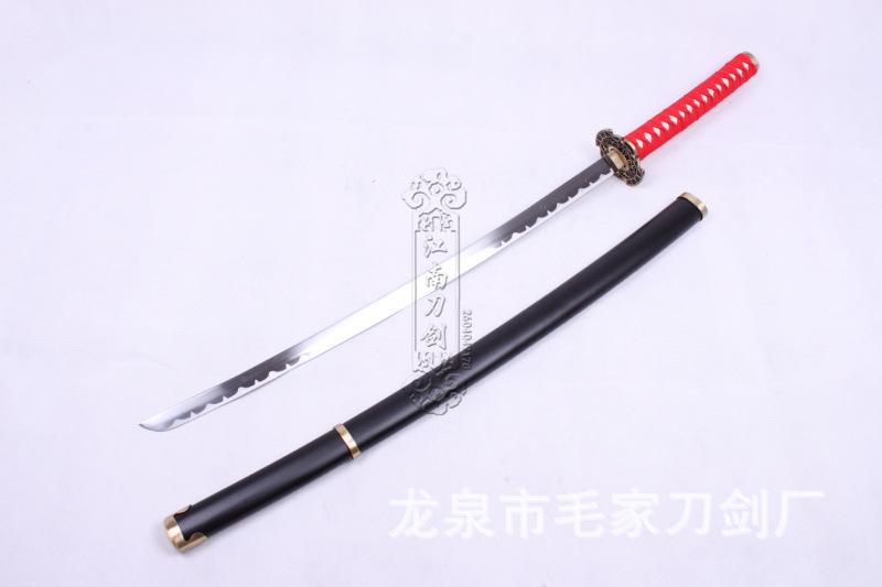 Katana samurai japanese sword Inuyasha Cosplay props Medium carbon steel handmade 105 cm katana sword Collectible crafts(China (Mainland))