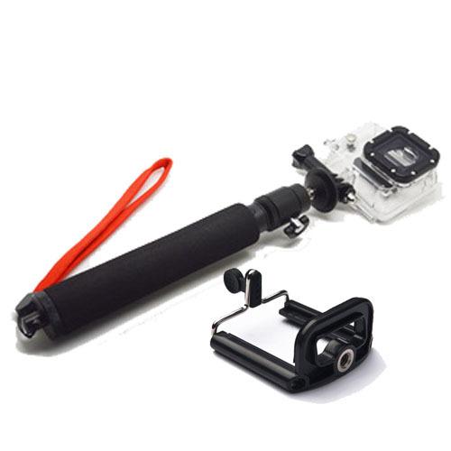 buy extendable selfie stick remote tripod handheld gopro pole phone clip. Black Bedroom Furniture Sets. Home Design Ideas