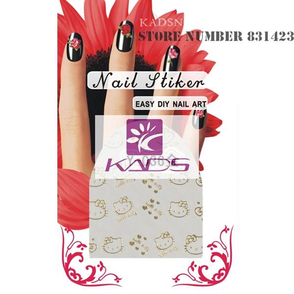 New2015 Y-036 золото дизайн вода ногтей стикера наклейка на ногтях продукт для ногтей инструмент