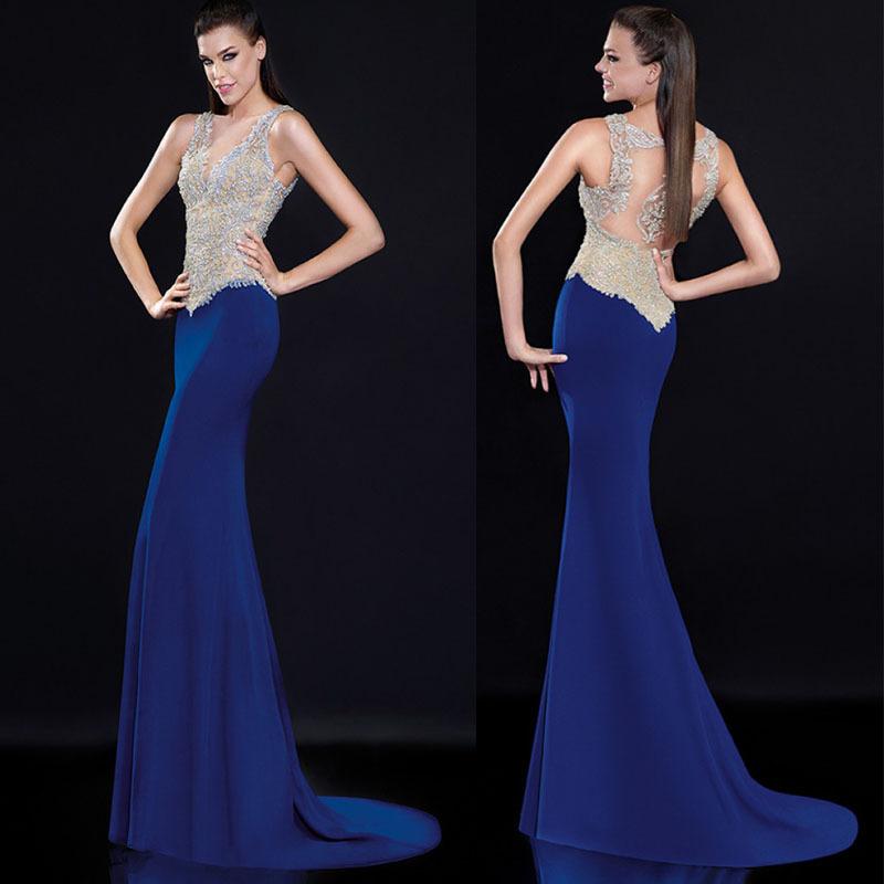 Вечернее платье Moonlight TE081 Royal Blue vestido браслет цепь moonlight vsbc267 925