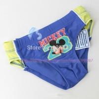 Retail (2-7Y) kids swimwear, boys swimsuit, kids swim trunks, mickey triangle trunks for swim,  beach wear, free shipping