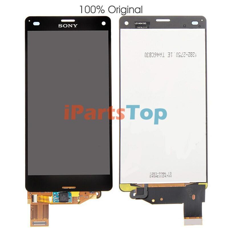 Atacado 100% Original Genuine OEM Black LCD Screen Display e montagem digitador para Sony Xperia Z3 Mini Compact D5803 D5833(China (Mainland))