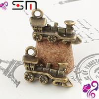 18*12mm Zakka Antique bronze diy alloy jewelry accessories wholesale, vintage Locomotive charms metal pendant, bracelet charms