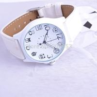 EYKI E-Times Leather Quartz Wrist Watch White Strap Freeshipping Dropshipping