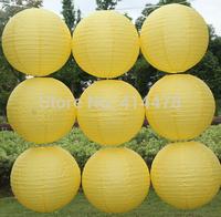 Free shipping 10pcs/lot 8''(20cm) Round paper lantern Yellow paper lanterns lamps festival wedding decoration party lanterns