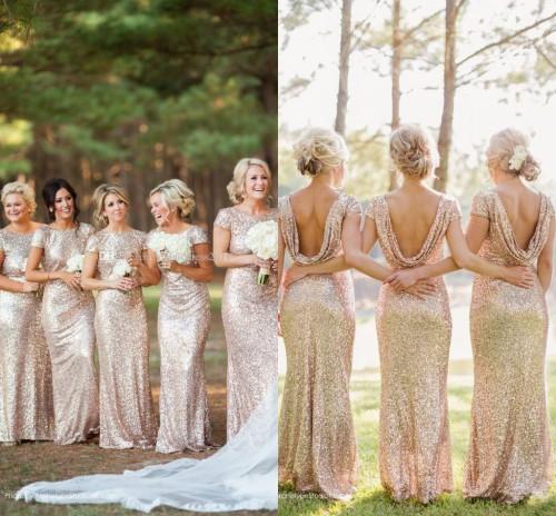 Gold Sequin Bridesmaids Dresses Gold Long Bridesmaid Dresses