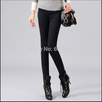 2015 Korean women denim leggings was thin outer wear snow boots big yards plus thick velvet pants trousers