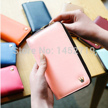 Hot Sell New Crown Cell phone Case Card Holder Coin Purse Wallet Cell Phone store(China (Mainland))