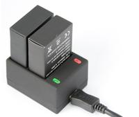 GO50 SJ4000 USB Dual double Charger for Gopro Hero 3/3+ AHDBT-301 AHDBT-201 battery 800mAh Free shipping