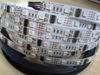 5m DC12V WS2801 smart pixel strip,48leds/m with 16pcs(16pixels) WS2801 IC 5050 smd rgb led chip;non-waterproof