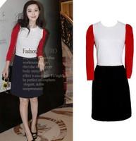 Hot Sale!The New Fashion Women/Girls Spring Casual Dress Romantic Splicing Dress 4Sizes