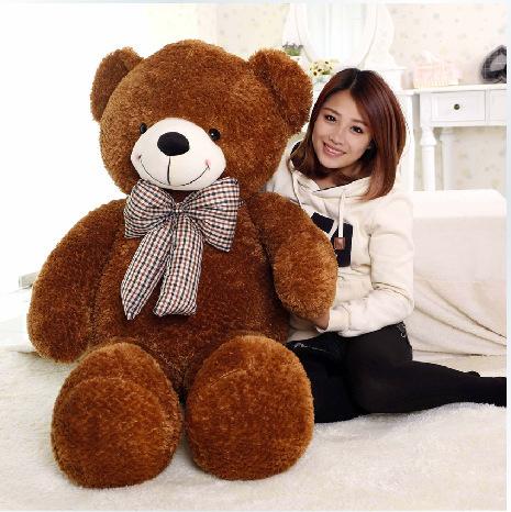 Top Grade160 cm Jumbo Teddy Bear Plush Doll Birthday Gifts Adorable Soft Teddy Bears Wholesale Stuffed Animal Bear Brand(China (Mainland))