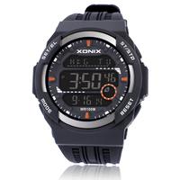 [Free Shipping] New arrival xonix sports waterproof digital multifunctional male luminous led electronic watch js