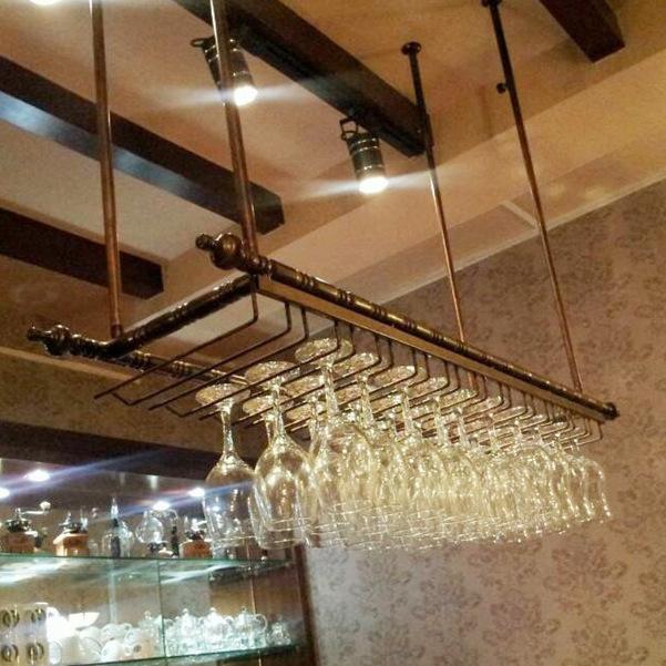 Achetez en gros bouteilles de vin plafond en ligne des grossistes bouteille - Porte verre suspendu ...