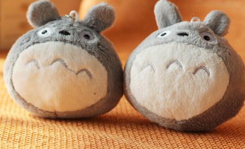 Kawaii CUTE Plumpy MY Neighbor TOTORO 7*6CM Plush Stuffed TOY Phone Strap DOLL ; Gift TOY BAG Pendant TOY Gift DOLL(China (Mainland))