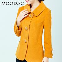 Woolen outerwear female autumn and winter women plus size cashmere overcoat woolen short design 2014
