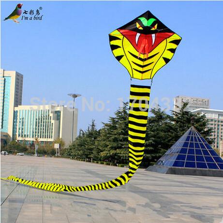 Free Shipping Outdoor Sports 2015 NEW 30m Power /Huge Cobra Kite /Animal kites /Snake Kite Good Flying(China (Mainland))