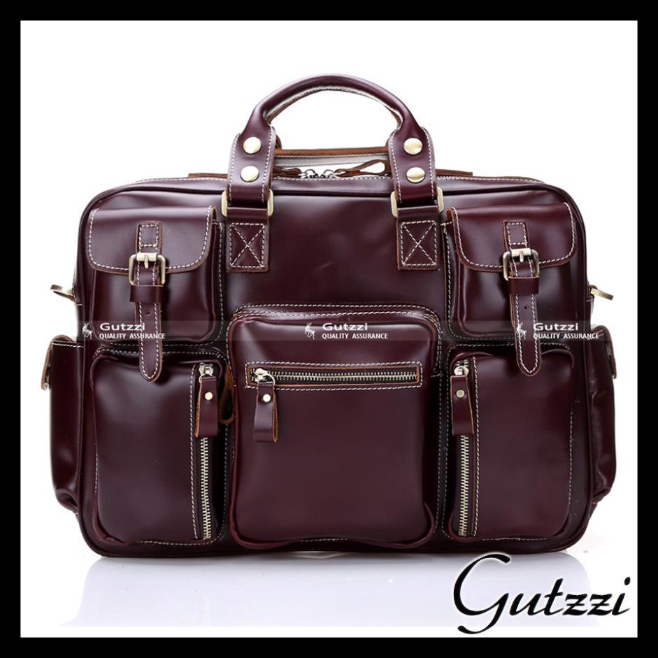 100% Genuine Leather Laptop Tote Bags Travel Business 2015 Oil Wax Leather Men's Briefcase duffle bag large capacity Traveling(China (Mainland))