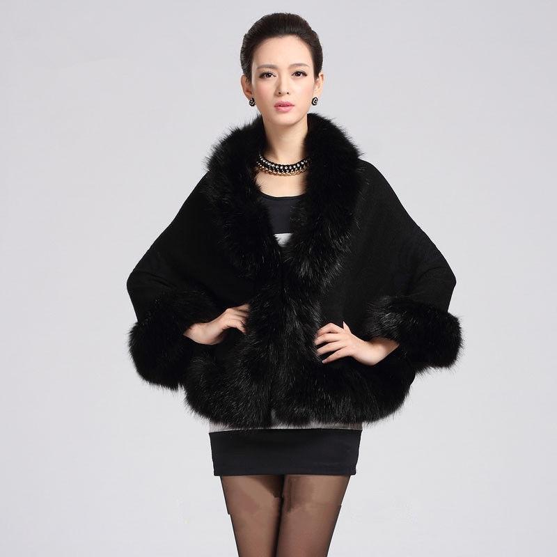 High-end Fashion white/black/red Faux Fur Wedding Jacket Wrap Woman Bolero Coat Shawl-Free shipping(China (Mainland))