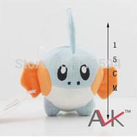 wholesale (10pcs/lot) 15cm=6 inch Pokemon Mudkip Plush Toy Stuffed Animal Doll Kids Birthday Gift