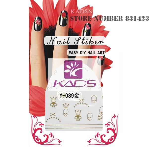 New2015 Y-089 золото дизайн вода ногтей стикера наклейка на ногтях продукт для ногтей инструмент