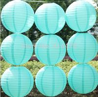 2015 New Blue 10pcs/lot 12''(30cm) Round paper lantern Free shipping paper lantern festival wedding decoration party Supplies
