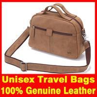 2015 Men and women bag Unisex Travel Bag 100% Genuine leather Fashion Vintage bag for men Crazy horsehide men travel bags