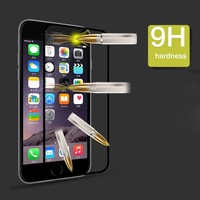 """For iPhone 6 Plus Luxury Full Screen Black and White Premium Tempered Glass Film For iPhone 6 Plus 5.5"""" Screen Protector"""