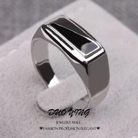 2015 Fashion Elegant Rings Platinum Filled Vintage Black Petrol Dripping Anniversary Ring For Unisex Aneis Anel Prata