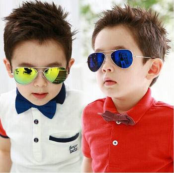2015 новинка детские мальчики детские солнцезащитные очки авиатор стиль марка дизайн ...