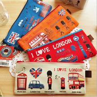 16pcs/lot New vintage love london series A4 Document Bag / large File bag Canvas Pouch/ wholesale