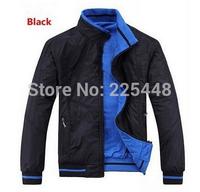 2015new autumn winter mens fashion sports for bmw Men's double-sided wear jacket collar coats / Size XL-XXXXL/Color blue black