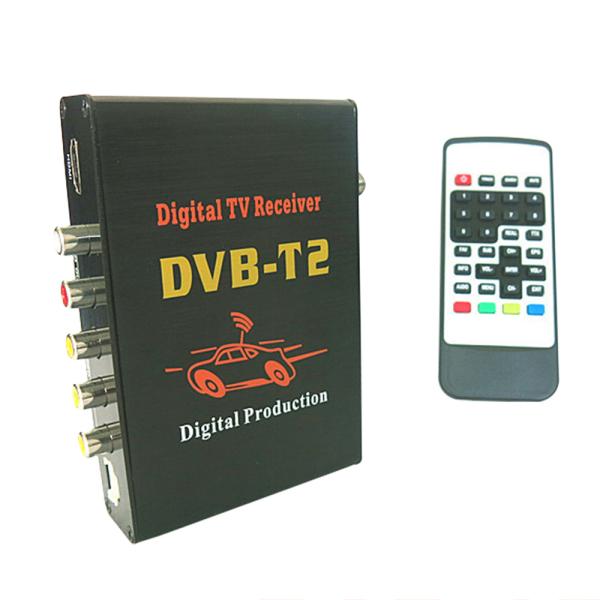 Satellite Finder Rushed Satellite Finder 2015 Newest Mobile Car Dvb-t2 H.264 Mpeg4 Digital Tv Tuner Hd Receiver Box Black Color(China (Mainland))