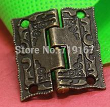 36 x 23 mm móveis bronze dobradiça antigo dobradiça caixa de jóias com parafusos 20 pçs/lote queda livre(China (Mainland))