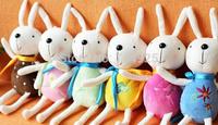 Plush Stuffed TOY Long 15CM Kawaii Metoo Rabbit DOLL Phone Charm Strap Pendant Lanyard TOY DOLL ; Wedding Gift Bouquet DOLL