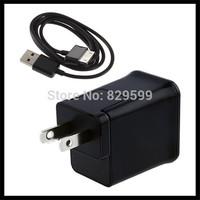 5V 2A Travel Wall Charger EU/US Plug 100pcs+USB Data Cable 100pcs For Samsung Galaxy Tab 2/P1000/P6200/P6800/7100/P7300/P7500