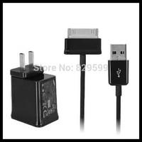 5V 2A Travel Wall Charger EU/US Plug 20pcs+USB Data Cable 20pcs For Samsung Galaxy Tab 2/P1000/P6200/P6800/7100/P7300/P7500