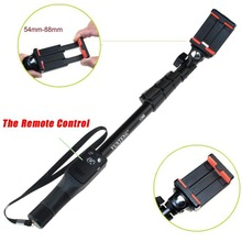 Bluetooth Remote Shutter Telescopic Handheld Tripod Monopod With Clip For iPhone Sport Camera For Gopro Hero 4/3 Photo Equipment