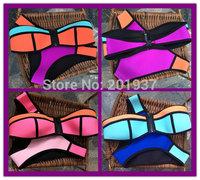 2015 New Bandeau Neoprene Swimwear Neoprene Swimsuit  Neoprene Bikini brazilian Triangle Beach Neoprene