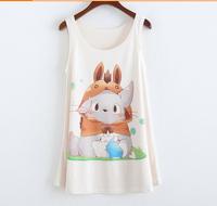 2015 newest Woman/girls t-shirt Lovely rabbit printing ,sport tshirts o-neck sleeveless fashion top tees ,T shirt for women
