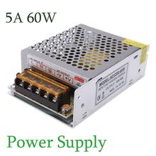 AC 110V/220V to DC 12V 5A 60W Voltage Transformer Short Circuit Protection Power Supply Adaptor for Led Strip Billboard(China (Mainland))