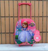 Oxford fabric student bag cartoon school bag trolley lightening school bag