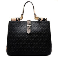 2015 Luxury Snake Pattern Leather Bags Women Handbag Fashion Desigual Embossing Ladies Shoulder Bag Clutch 5050