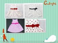 girl dress baby kids clothes 2015 new polka dot dress girl high quality cotton spring summer children  girls princess dress