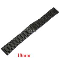 Watch Strap 18mm Black Stainless Steel Bracelet for Hours Banda De Reloj GD013718
