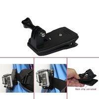 360 Rotary Backpack Hat Rec-Mounts Clip Fast Clamp Mount for GoPro Hero 2 3 3+4