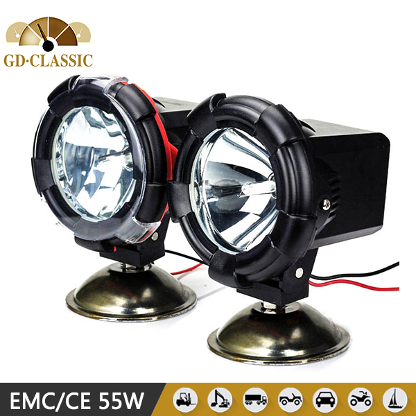 2PCS 4 Inch 12V 55W Marine Truck Fog Lamp,4300K 6000K HID Driving Light, HID Off Road Xenon Work Light(China (Mainland))