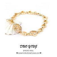 2015 Rock Long Full-Jewelled Crystal Heart Silver And Gold Bracelets For Women pulseiras Best Friends